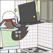 キッチン換気扇(レンジフード)の交換工事