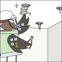 照明器具の新規設置工事